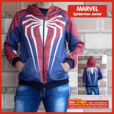 Jaket Superhero Marvel Full Print Spiderman