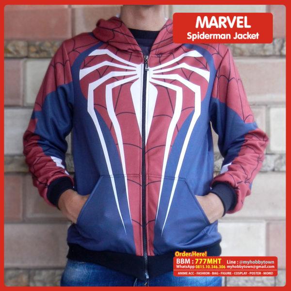 Jaket Superhero Marvel Full Print Spiderman tokoAnime.ID