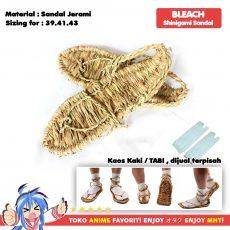 Sandal Jerami Jepang Straw Waraji Samurai Shinigami Bleach Cosplay - myhobbytown