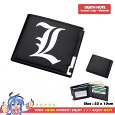 Dompet Anime Death Note - L logo Hitam Minimalist - myhobbytown