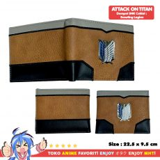 Dompet Anime Attack on Titan - Scouting Legion Logo Coklat - myhobbytown