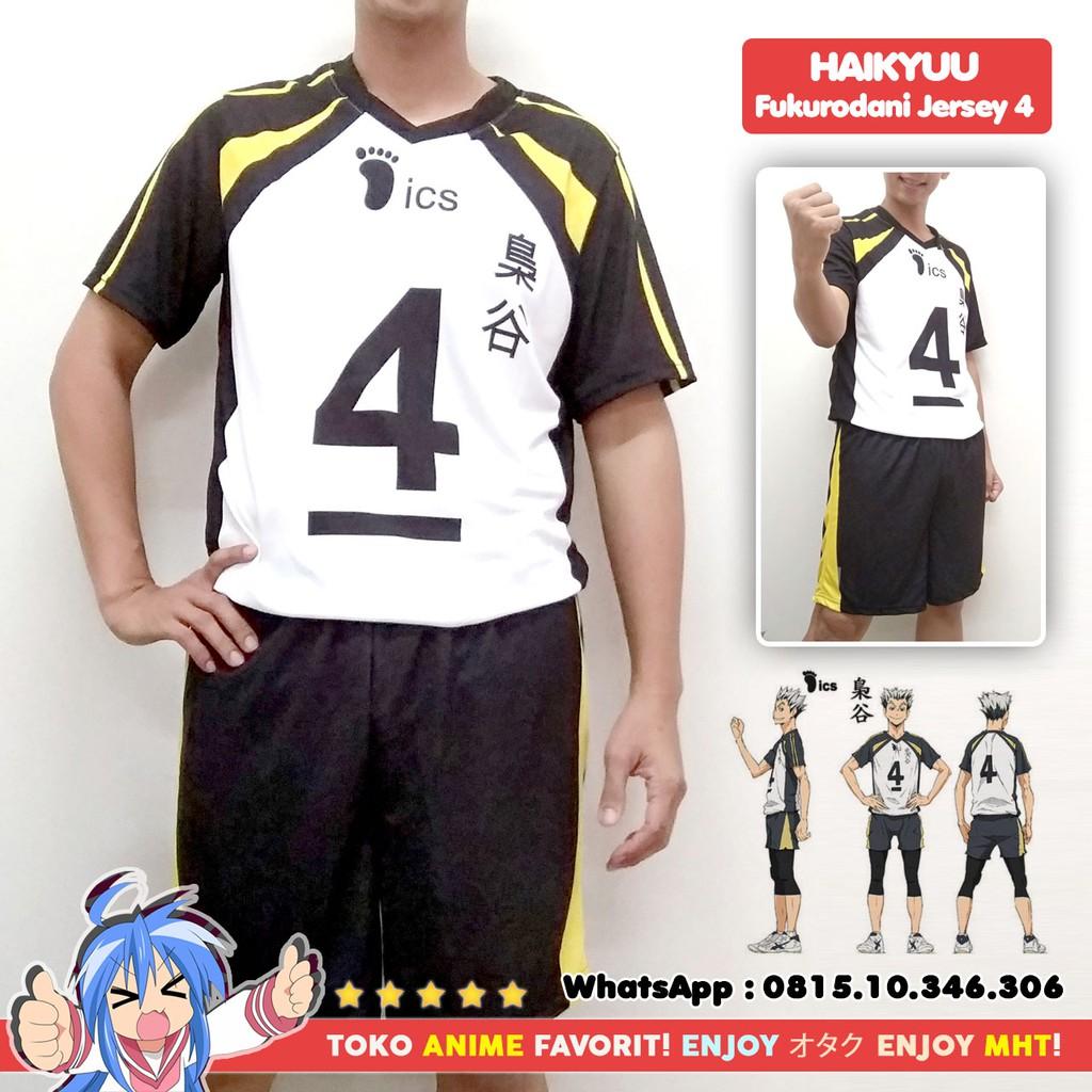 Kostum Anime Cosplay Haikyuu Fukurodani Jersey No. 4 ...